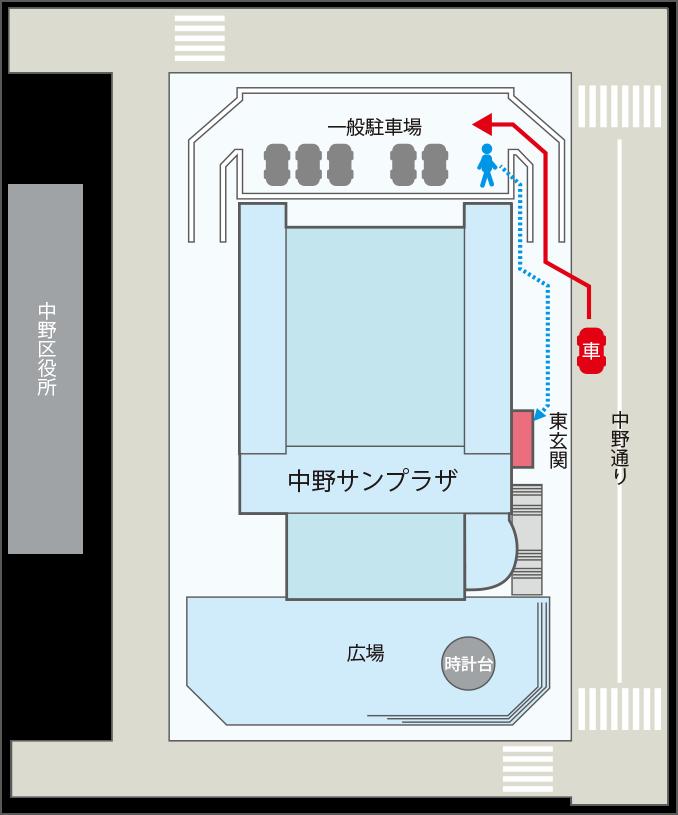 駐車場からの導線